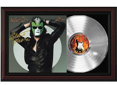 Steve Miller Band Platinum LP Record w/ Reprinted Autographs In Wood Frame