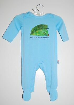 The World of Eric Carle Infant Boys Blue LS Very Hungry Caterpillar Romper Sz 6M