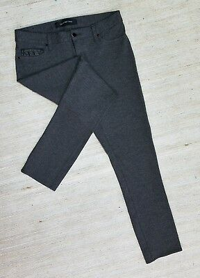 CALVIN KLEIN JEANS GRAY SKINNY KNIT WOMENS ANKLE LEGGINGS SIZE 29X27 Tag 6 I36
