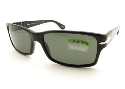 ecb3dc10d9 Persol 2803 S 95 58 58mm Black Green Polarized New Authentic Sunglass
