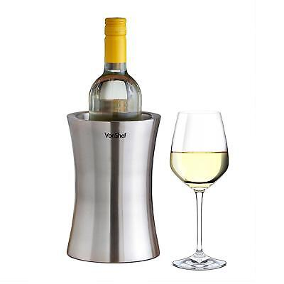 VonShef Stainless Steel Wine Cooler Double Walled Bottle Chiller Holder