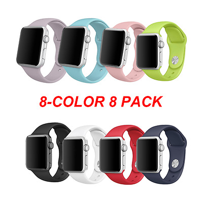 Silicone Soft Replacement Bands for 38mm All Apple Watch Models