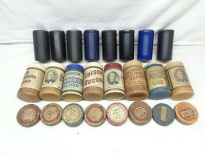 Lot of Eight Edison Antique Phonograph Records