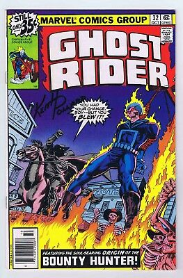 Ghost Rider #32 VF/NM Signed w/COA by Keith Pollard 1978 Marvel Comics PWC