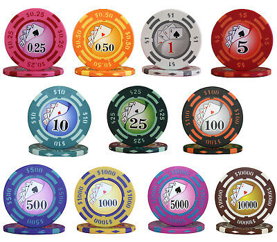 1000pcs 14G YIN YANG CASINO POKER CHIPS BULK - Choose Denominations
