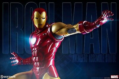 Iron Man Avengers Assemble 1:5 Scale Statue Sideshow Collectibles Marvel  New