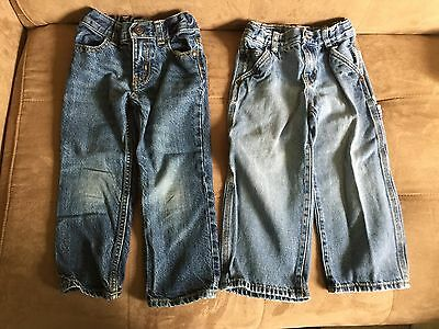 Lot of 2 Pairs of Toddler Boys Adjustable Waist Jeans Size 3T