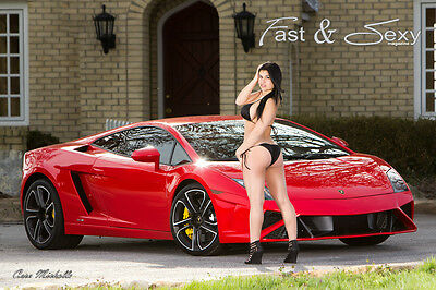 Bikini Model with Exotic Car fast & sexy poster