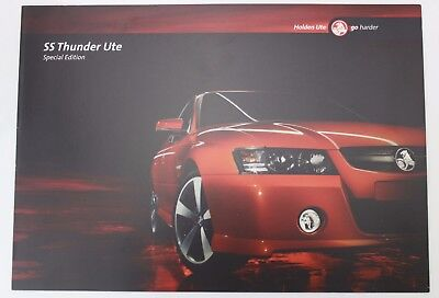 New Holden Commodore VZ SS Thunder Ute Special Edition Sales Brochure Ignition