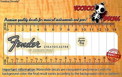 Fender Stratocaster 60´s VINTAGE Look (Grey Logo) Restoration Waterslide Decal