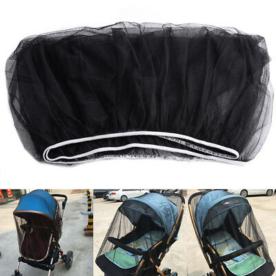New Black Baby Stroller Mosquito Insect Net Safe Cover May Fit Bassinet Car Seat