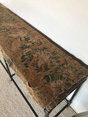 Antique 17th c tapestry fragment