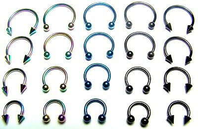 body Piercing Surgical Steel Nose Ring Ear Cartilage Tragus Helix Hoop uk size