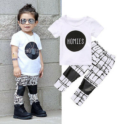 AU Stock Toddler Baby Boy Kids Party Top Shirt Pants Set Outfit Casual Clothing