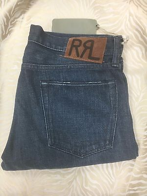 5fa2ae13f4c RRL Double RL Jeans Mens sz 32 32 State Blue wash Slim Fit New Selvedge