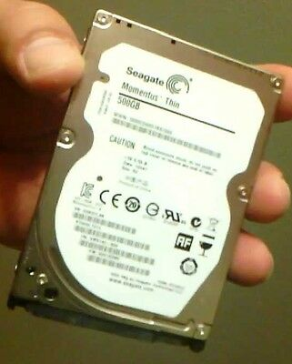 "Seagate Momentus Thin 500GB SATA 2.5"" 7mm 7200rpm Laptop/PS3/PS4 Hard Drive"