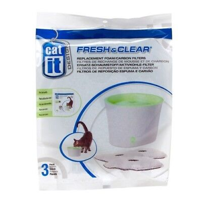 Catit Fresh and Clear Fountain Carbon/Foam Filter Cartridge (3 Pack)