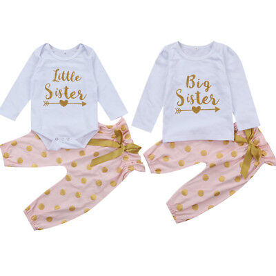 AU Stock Sweet Toddler Kids Baby Girl Long Sleeve Clothes Tops Pants Outfits Set