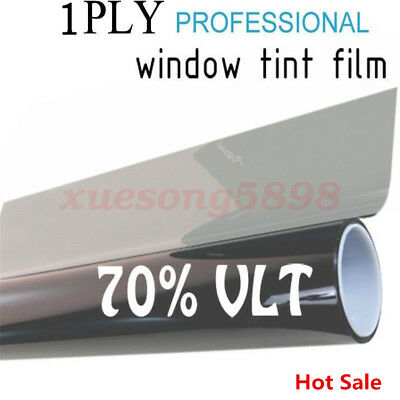 50cm*1M Black Glass Window Tint Shade Film VLT 70% Auto Car House Roll New