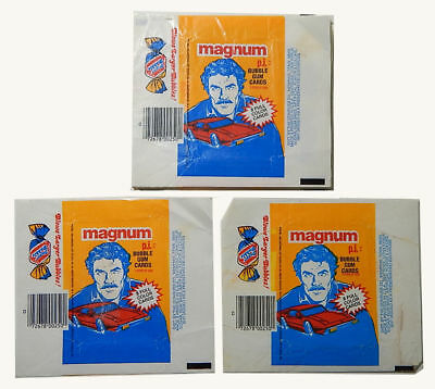 Magnum P.I - 10x Wax Pack Card Wrappers - Donruss 1981 - NO TEARS !!!