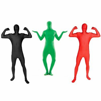 Adult Spandex Costume Full Body Suit Zentai Morph Invisible Morphsuit Black Red