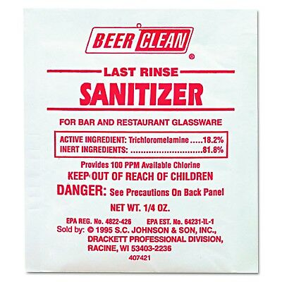 Diversey Beer Clean Last Rinse Glass Cleaner and Sanitizer Powder (0.25-O... New