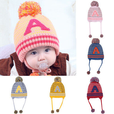 Lovely Baby Boys Girls Beanie Letter Cotton Hat Children Print Knitting Hats