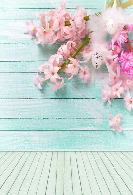 5x7ft Strip Wooden Wall Backdrop Flower Background Photography Vinyl Studio Prop