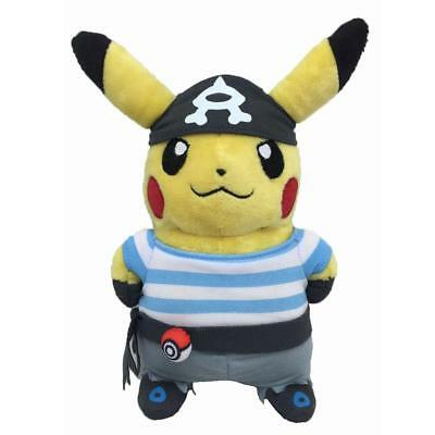 "Cute Pokemon Pikachu With Team Aqua Grunt Suit 8"" Plush Toy Doll Kids Gifts"