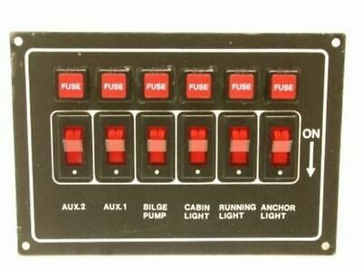 Switch Panel Horizontal - For Caravan's, RV's and Boats Yacht Parts Accessories