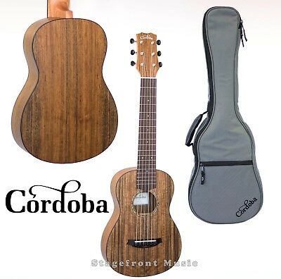 Cordoba Mini-O Ovangkol Body Acoustic Nylon String Traveller Guitar