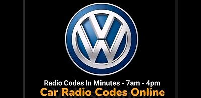 VW Stereo SAFE PIN Code Unlock Decode Service for RNS 310 315 - Fast