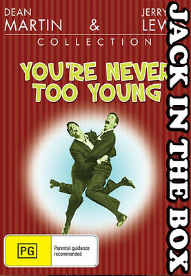 You're Never Too Young DVD NEW, FREE POSTAGE WITHIN AUSTRALIA  REGION ALL