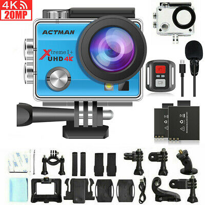 Campark ACT74 Action Camera 4K 16MP Waterproof Camera 30M Compatible with gopro