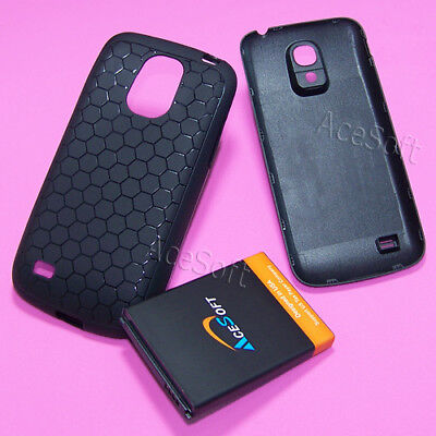 AceSoft 6300 mAh Extended Battery Cover Case for Samsung Galaxy S4 mini L520 USA