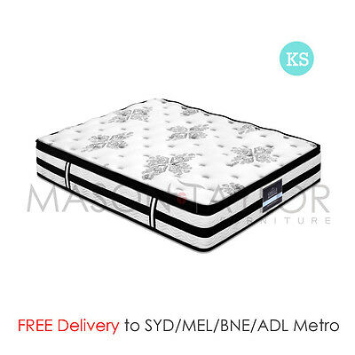 FREE DELIVERY(T&C) Euro Top Bed Mattress King Single Size 5 Zoned Spring 34CM AU