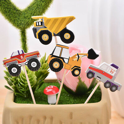 24x  Car model cake toppers cupcake picks birthday party decorations kids