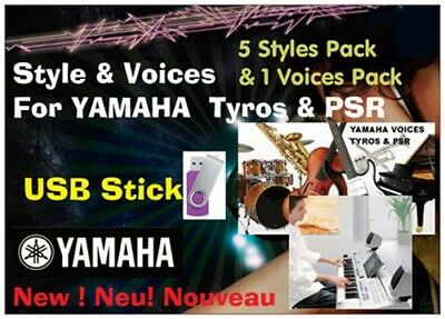 Styles & Voices Pack Tyros Genos & PSR USB Stick - 5 Styles Pack + 1 Voices Pack