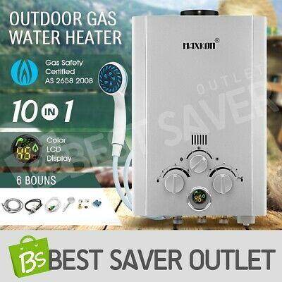 520L/Hr Portable MAXKON Outdoor Gas Hot Water Heater Shower Camping LPG Instant