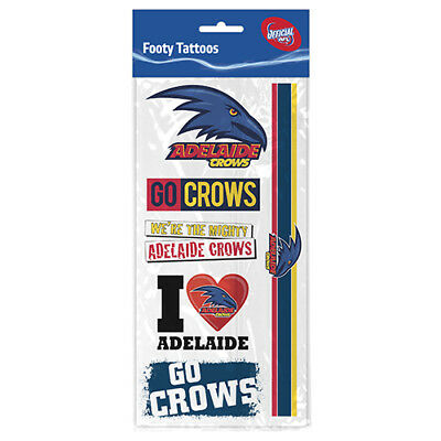 Adelaide Crows AFL Temporary TATTOO Sheet individual tattoos Christmas Gift