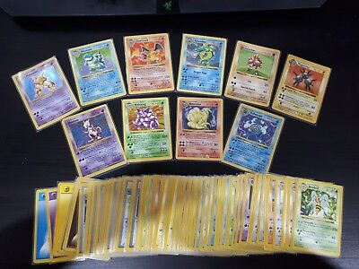 Pokemon Shadowless Base Set Near Complete   WOTC Played Condition #1