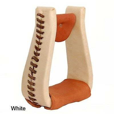 American Saddlery Rawhide Deep Roper Stirrups Wht. Delivery is Free