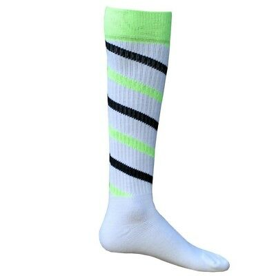 (Small, White / Neon Green / Black) - Red Lion Cyclone Athletic Socks