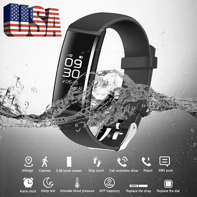 Fitness Tracker Bluetooth Smart Watch Band Sport Waterproof Android&IOS iPhone