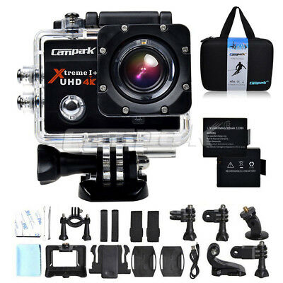 """Campark Sports Camera 4K 16MP WiFi FHD 2.0"""" LCD Underwater 170° Action Camcorder"""