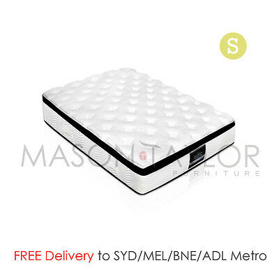 FREE DELIVERY(T&C) Pillow Top Pocket Spring Mattress Single Size Medium Firm AU