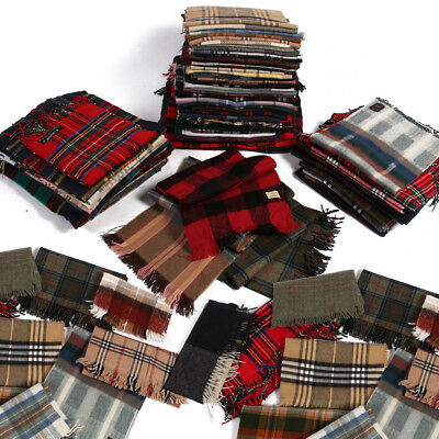 Job Lot Vintage Tartan Scarves Wholesale X20 Pieces Grade A