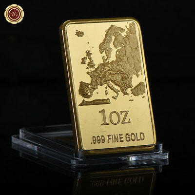 WR .99 1 OZ Gold Bar W/ Territory Ingot Bullion Design Collectable Gifts for Him