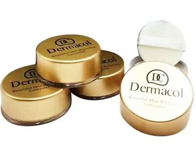 New Dermacol Face Shinny Loose Powder Beautiful Skin Whitening Concealer UK