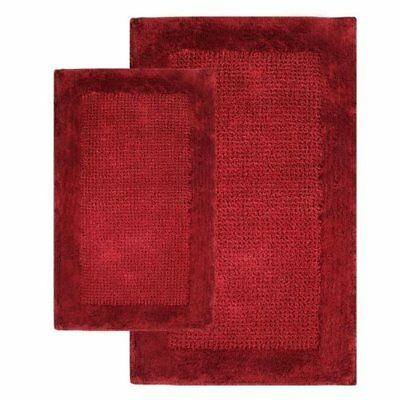 Chesapeake 2-Piece Naples 21-Inch by 34-Inch and 24-Inch by 40-Inch Bath Rug